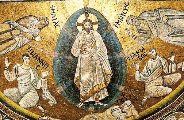 IMMAGINE 3 Dettaglio della Trasfigurazione VI secolo mosaico, monastero S Caterina del Sinai (Egitto)