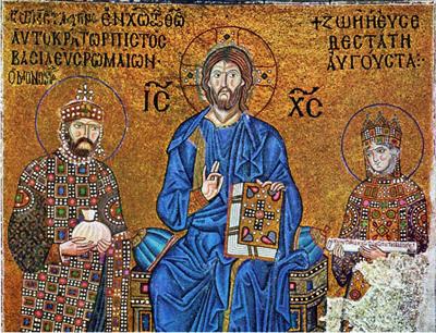 IMMAGINE 7 Zoe e Costantino con Cristo in trono, 1034-1042. Costantinopoli, cattedrale di Santa Sofia